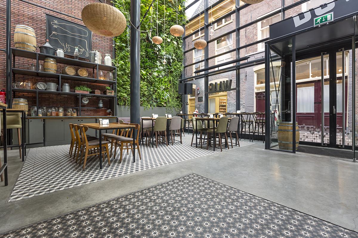 cementtegels restaurant